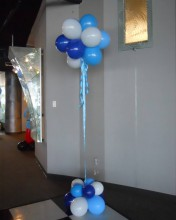 Balloon Topiaries are perfect for creating a cloud effect and can be done in two or more colors.