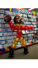 Football player made with link balloons
