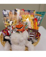 Gift basket customized with magazines to wish someone a speedy recovery.