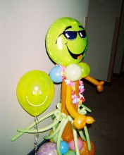 Fun decor door greeter for your next party.