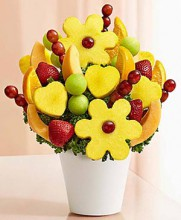 Valentine fruit bouquet