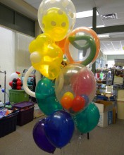 It's balloon-ception with this balloon bouquet containing balloons stuffed inside of other balloons...We know, we just blew your mind!