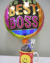 choose from this balloon or any of our other Boss's Day balloons