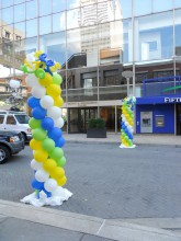 Balloon Columns are normally 6 ft or 8 ft columns! They can be done in any color and normally have a spiral to them.