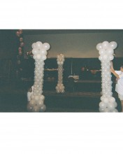 "Create ""real"" looking balloon columns to create boundaries or just to make a space look more historical."