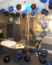 Surprise your coworker, boss, or friends with a bunch of balloons in their office. Colors can vary!