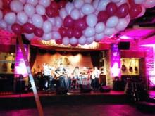 Balloon drop at Pinktober