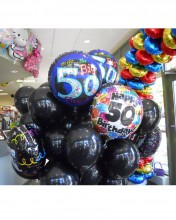 Turning fifty can be fun or horrible depending on the person, brighten anyone's day with this awesome balloon bouqet!  That can make them feel special no matter what.