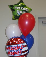 Create an even warmer welcome for those who serve our country with these balloons!