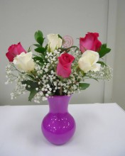 Choose your 6 roses and vase color!
