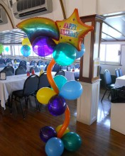 Groovin' Shooting Star Balloon Decor is a fun way to decorate space for any event or gathering.