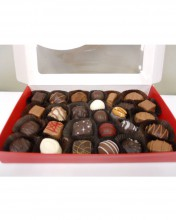 Choose from a wide variety of boxes for your pound of chocolate...and don't forget to get yourself a few pieces.