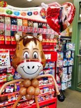 Balloon valentine horse