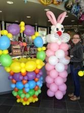 Giant balloon bunny and basket