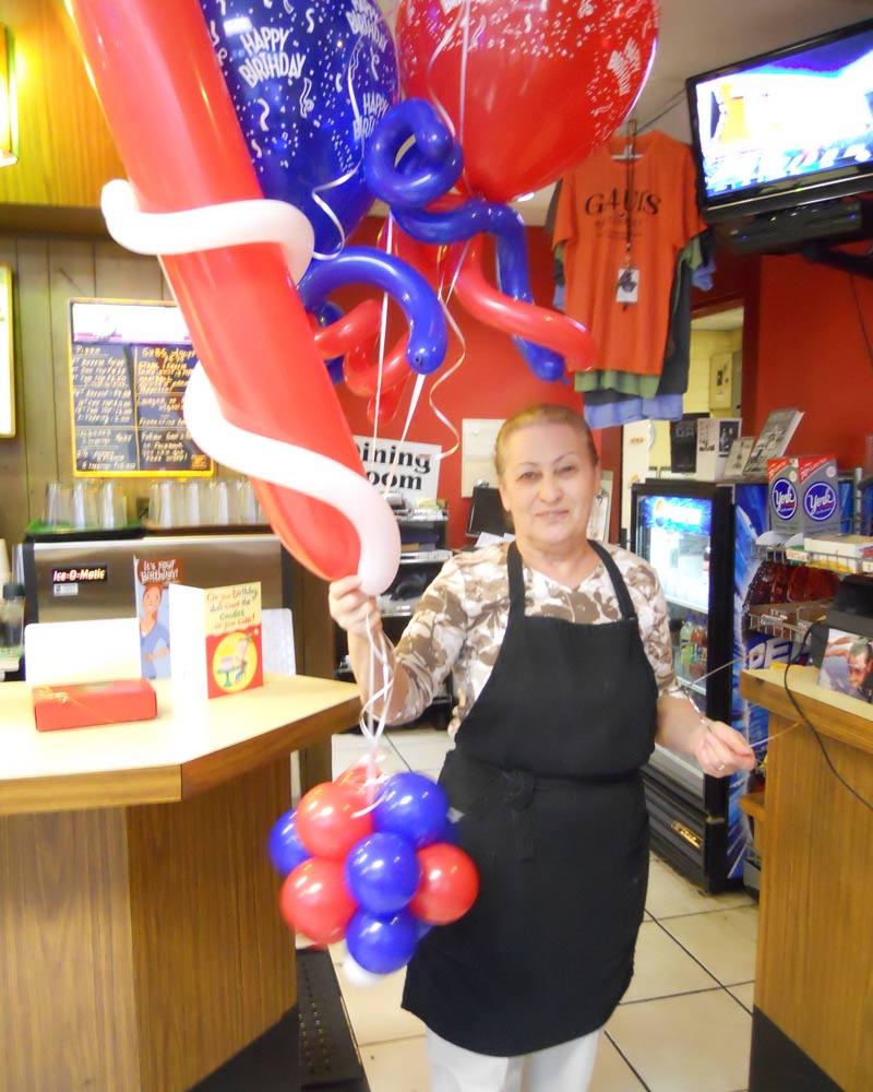 Fun Swirls Birthday Balloon Bouquet